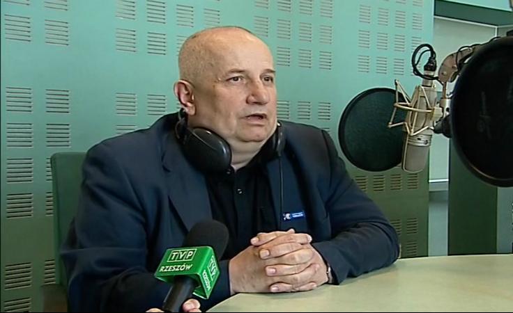 """Jerzy Janusz Fąfara - autor słuchowiska """"Na drodze do Damaszku""""."""