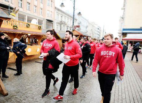 Rugbiści na Piotrkowskiej promowali mecz