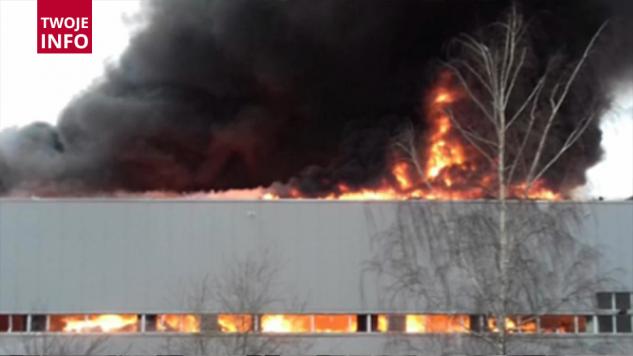 Pożar lakierni w Świebodzicach (fot. Twoje Info)