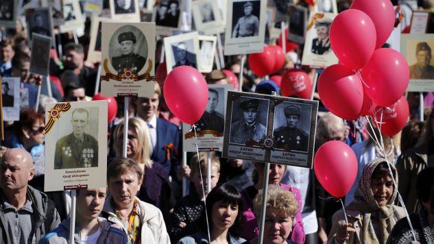 """Terroryści mieli zaatakować """"nieśmiertelny pułk"""" (fot. PAP/EPA/ANATOLY MALTSEV)"""