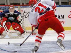 Mariusz Czerkawski i drużyna hokeistów zajęli w turnieju olimpijskim 11. miejsce (fot. Getty Images)