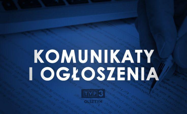 Komunikaty i ogłoszenia TVP3 Olsztyn