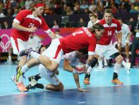 Thomas Mogensen z Danii atakuje w meczu Dania-Hiszpania (fot. Getty Images)