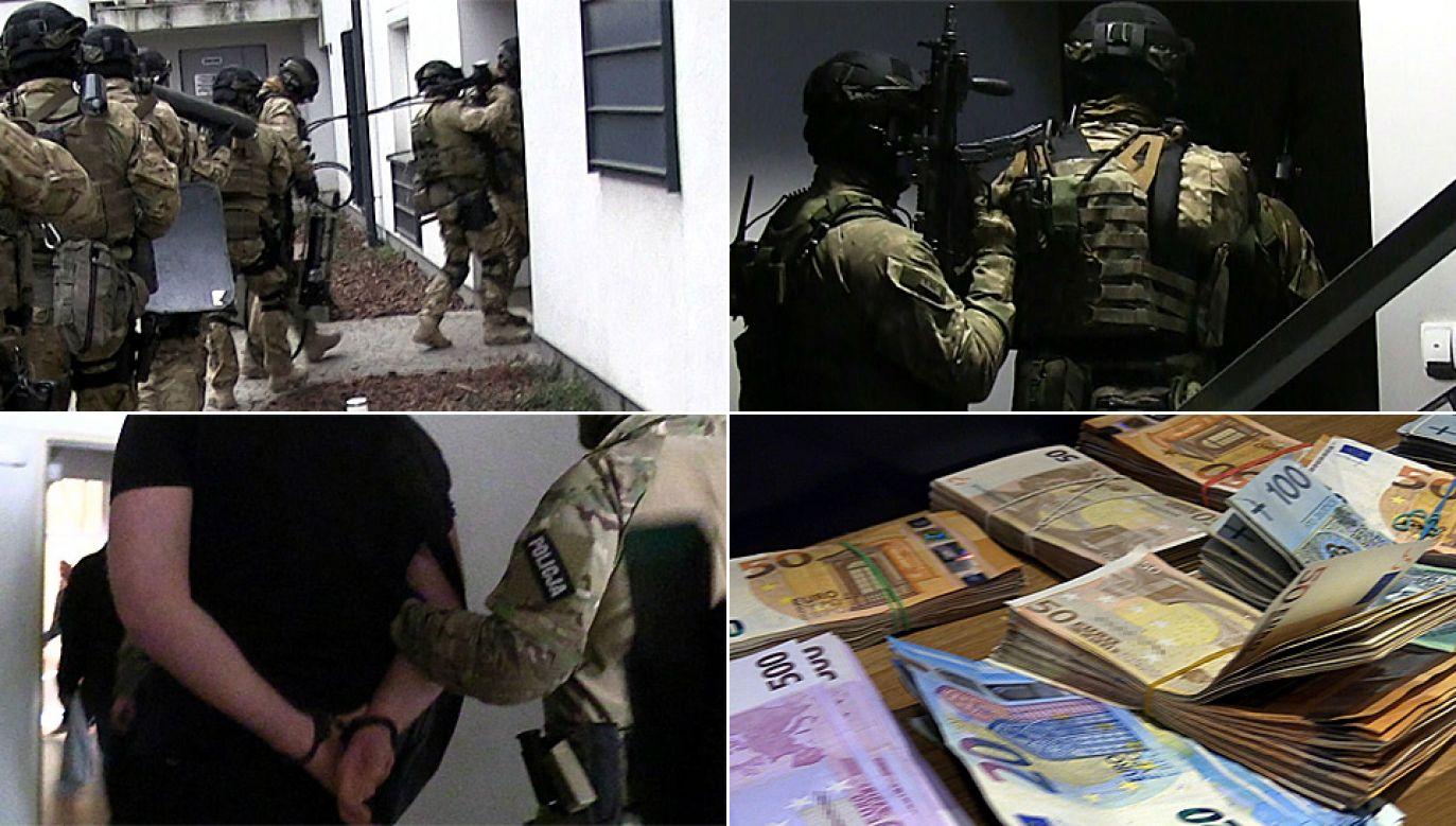 Policjanci przeprowadzili świetnie skoordynowaną akcję (fot. CBŚP)