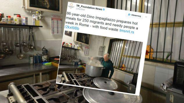 Dino Impagliazzo rozkręcił wielką akcję pomocy humanitarnej w Rzymie (fot. Twitter)