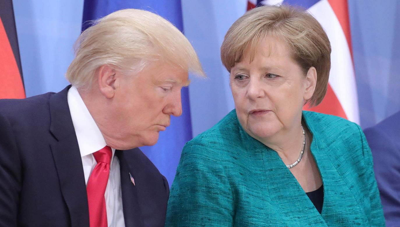 Donald Trump i Angela Merkel (fot. REUTERS/Michael Kappeler, Pool)