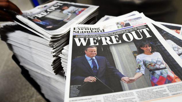 Dziennikarze są podzieleni w ocenie Brexitu (fot. PAP/EPA/ANDY RAIN)