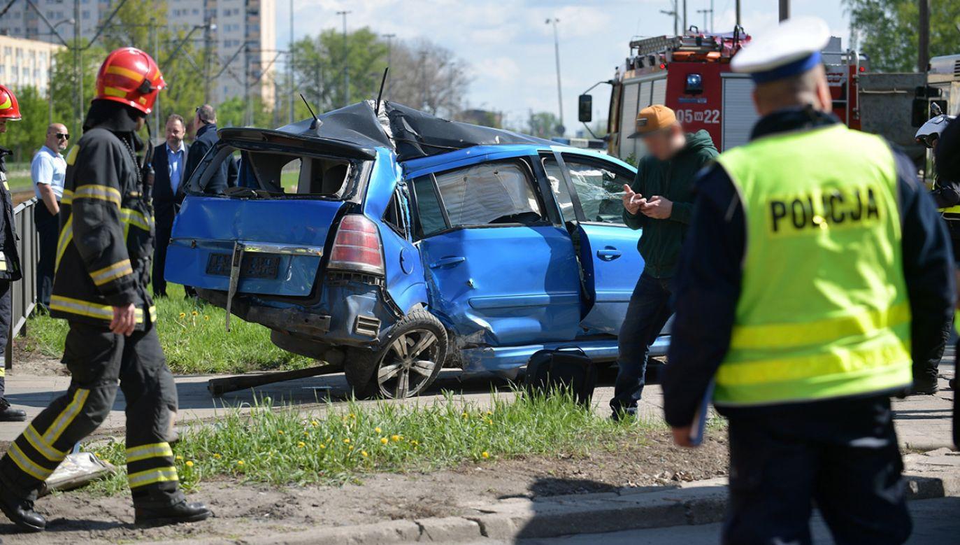 Miejsce wypadku na skrzyżowaniu ulic Kijowskiej i Markowskiej w Warszawie  (fot. arch. PAP/Marcin Obara)