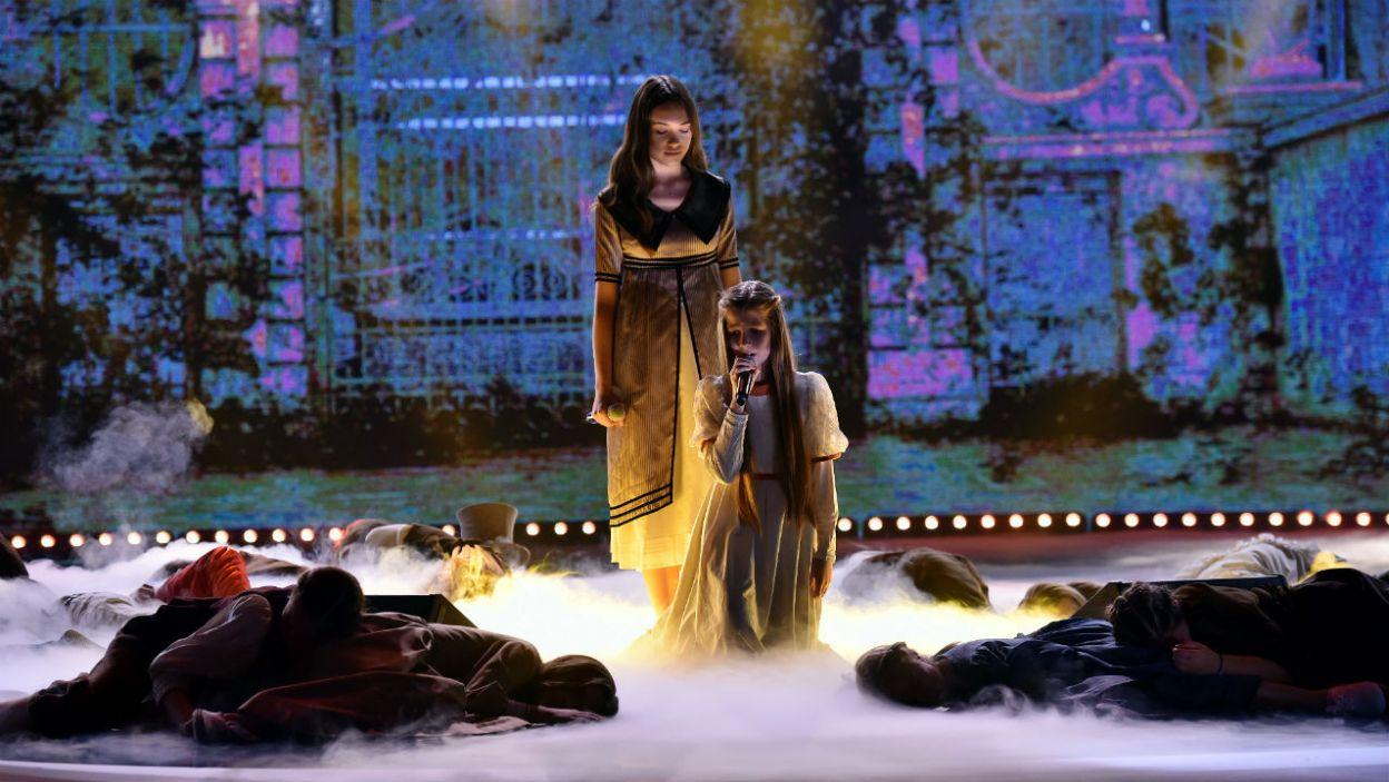 Alicja Szemplińska i Daria Domitz zaśpiewały wzruszającą pieść Infantyny, historię o miłośni i walce. (fot. I. Sobieszczuk/TVP)