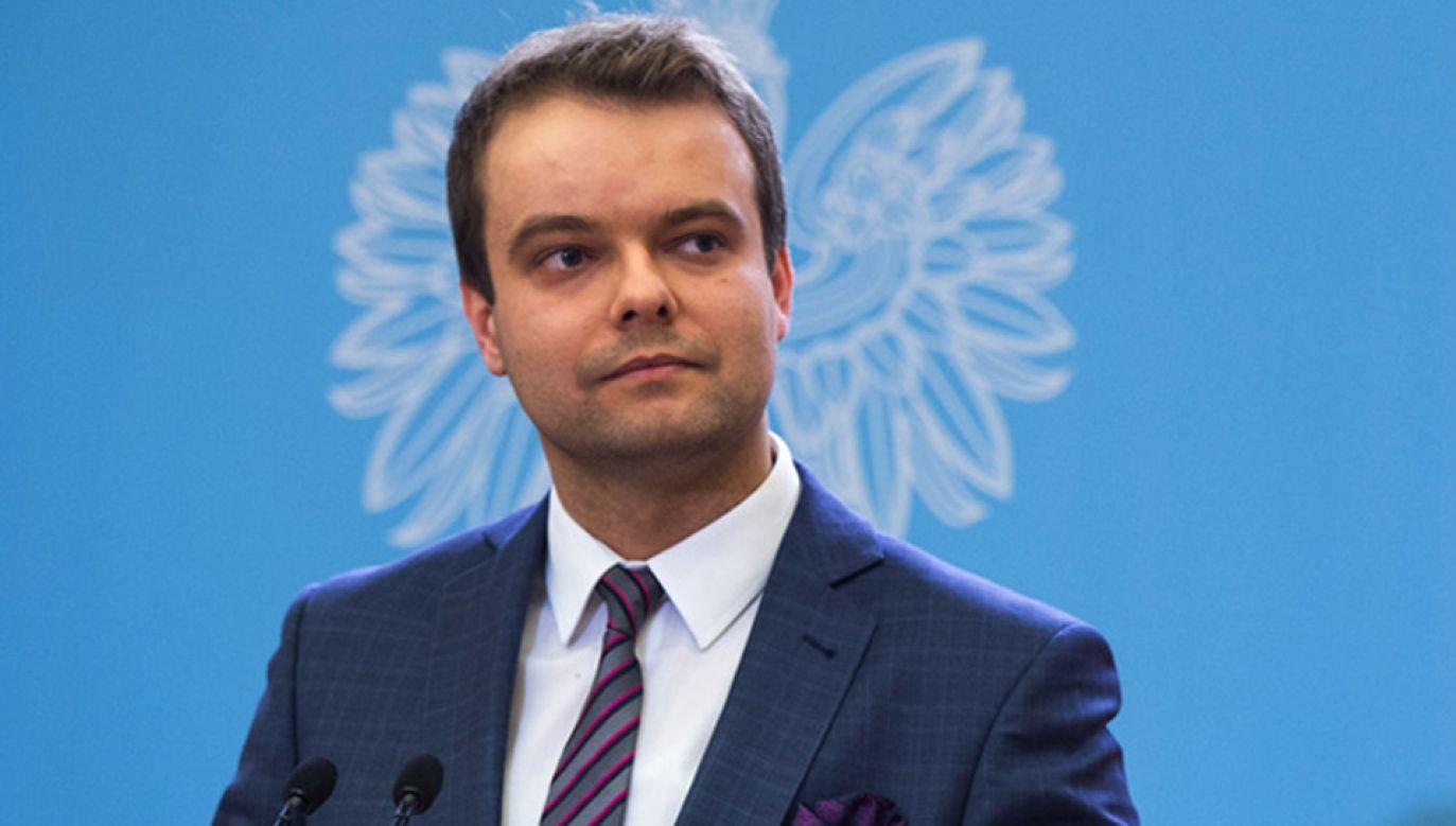 Rzecznik rządu Rafał Bochenek (fot. KPM/Tracz)