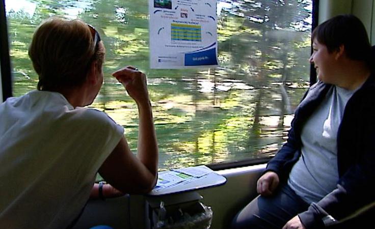 Podróż pociągiem z Zagórza do Komańczy