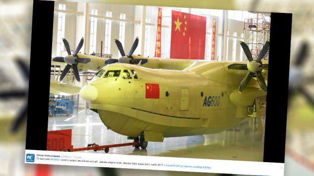 AVIC AG600 będzie wykorzystywany w akcjach gaśniczych i ratunkowych (fot. TT/China Xinhua News)