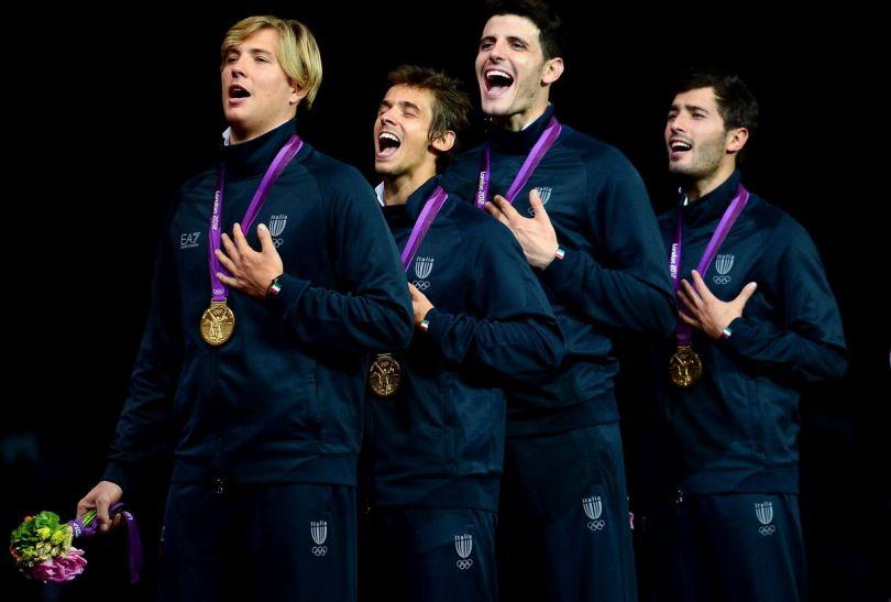 Włosi V. Aspromonte, A. Baldini, A. Cassara and G. Avola – drużynowi mistrzowie olimpijscy we florecie (fot. Getty Images)