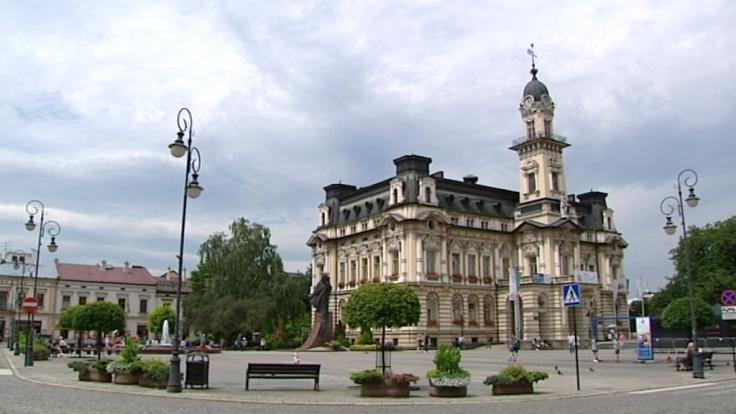 Rynek w Nowym Sączu (fot. TVP3 Kraków)