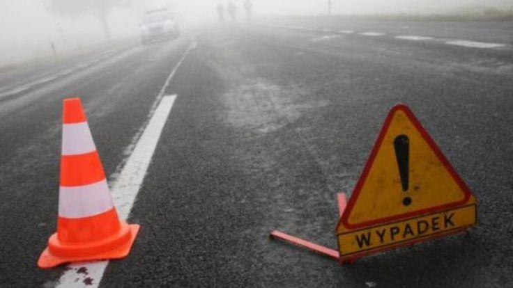 Do wypadku doszło na łuku drogi krajowej nr 15 podczas przejazdu kolumny wojskowej