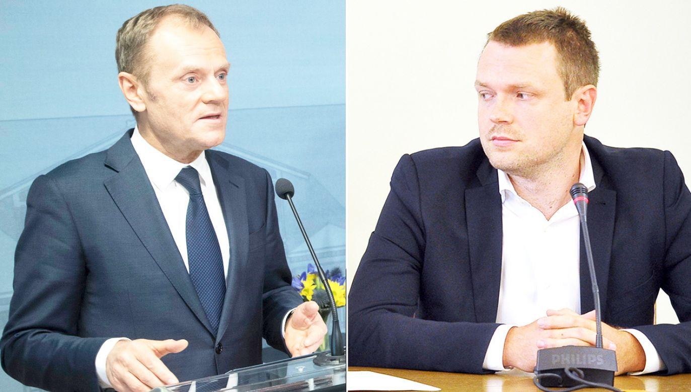 M.Wassermann powiedziała, że przewiduje przesłuchanie Donalda Tuska na wrzesień; zaznaczyła, że nie widzi potrzeby przesłuchania syna b. premiera (P) (fot. PAP/ EPA/MAURI RATILAINEN/arch.PAP/Marcin Obara)