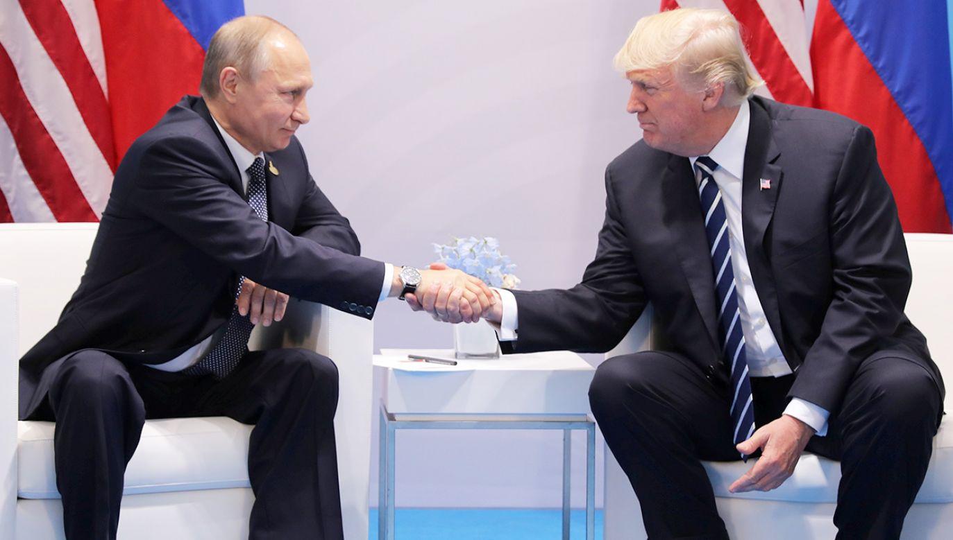 Władimir Putin i Donald  Trump (fot. REUTERS/Carlos Barria)