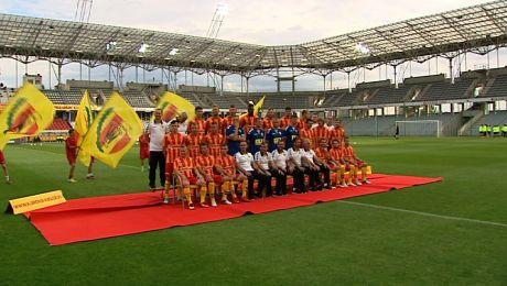 Spotkanie prezydenta Kielc z piłkarzami Korony