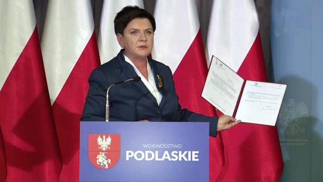 """""""Rządowi udało się dużo zrobić"""".  Premier przedstawiła umowę na budowę drogi Via Baltica"""