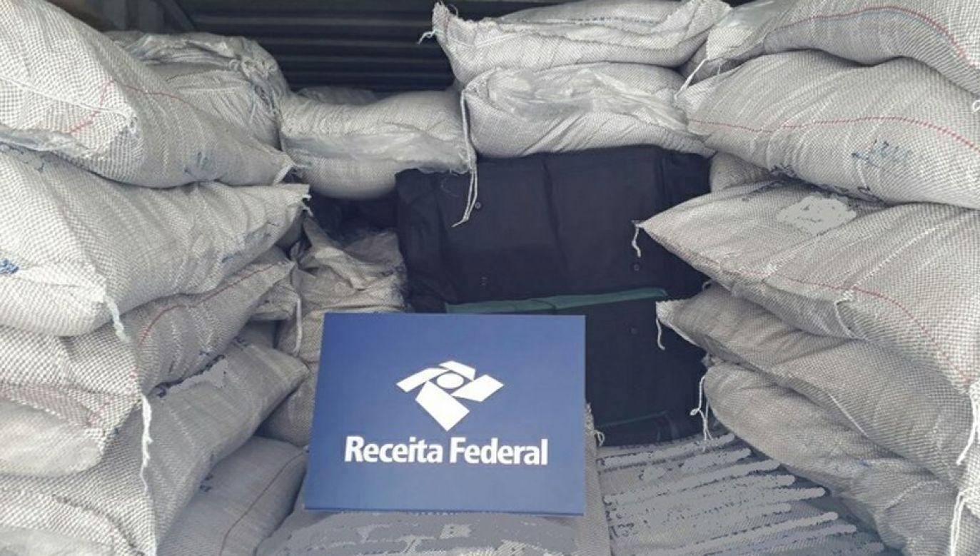 Przejęto blisko dwie tony kokainy (fot. RFB Santos)