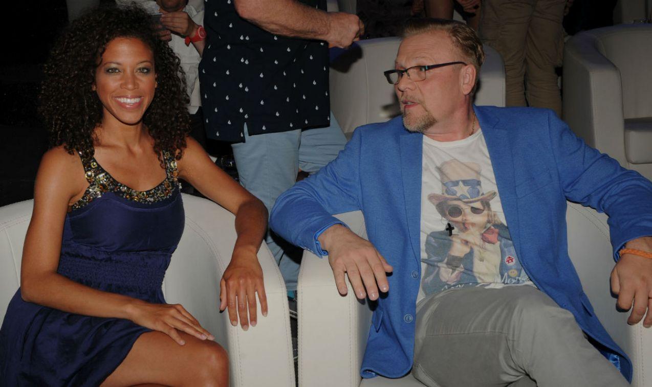 Jacek Lenartowicz i Davina Reeves mieli nadzieję na finał, ale pytania okazały się zbyt trudne (fot. TVP/N. Młudzik)