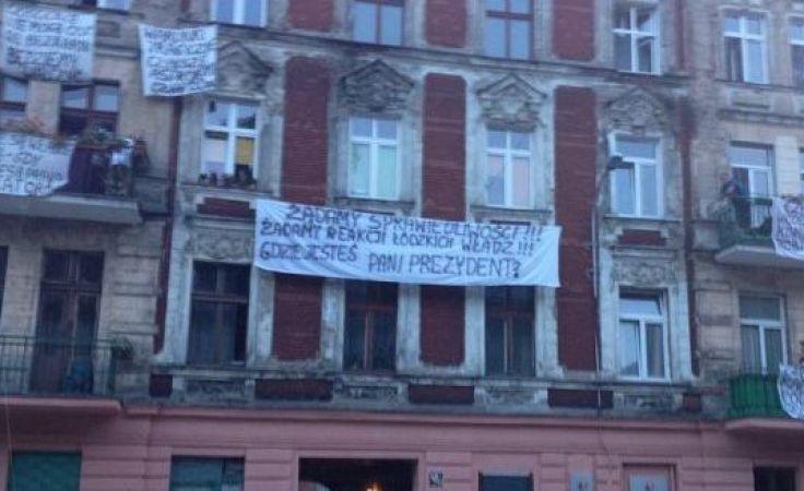 Spór między lokatorami, a właścicielami kamienicy przy ul. Targowej 47 w Łodzi trwa od sierpnia tego roku. Fot. ŁWD
