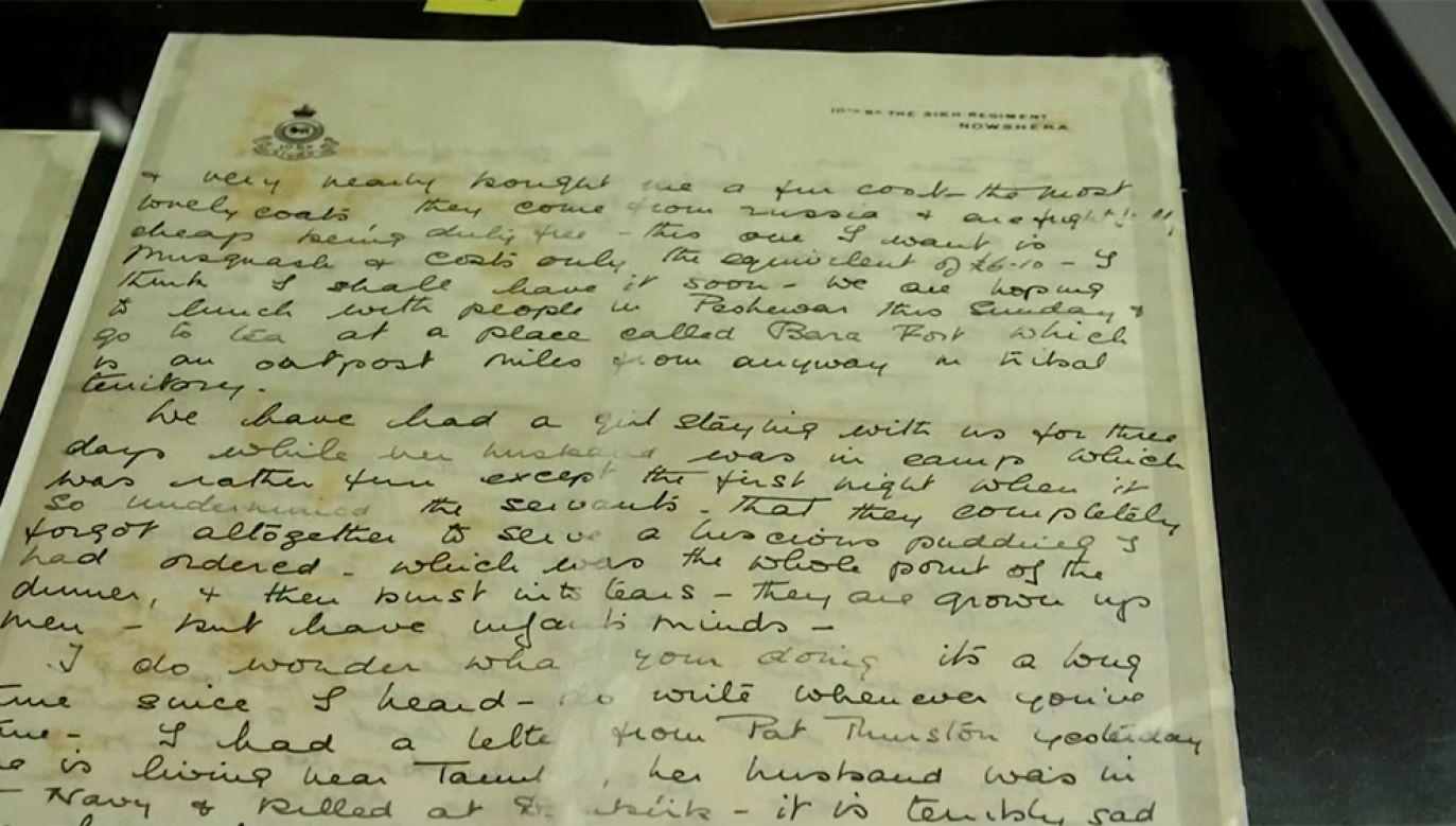 Listy wydobyto z wraku statku zatopionego przez Niemców w 1941 r.(fot. Teleexpress Extra/TVP Info)