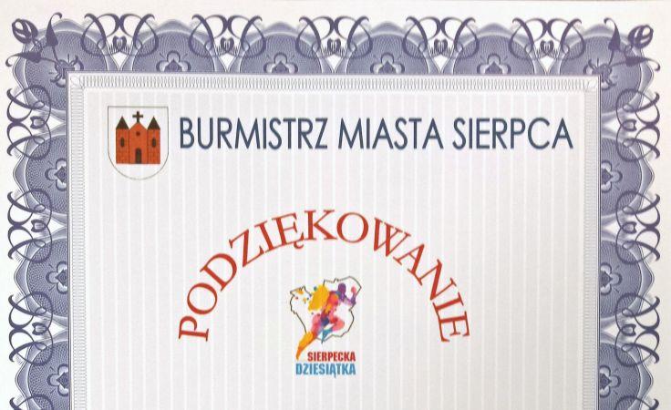 Podziękowania dla TVP Warszawa od Burmistrza Miasta Sierpca