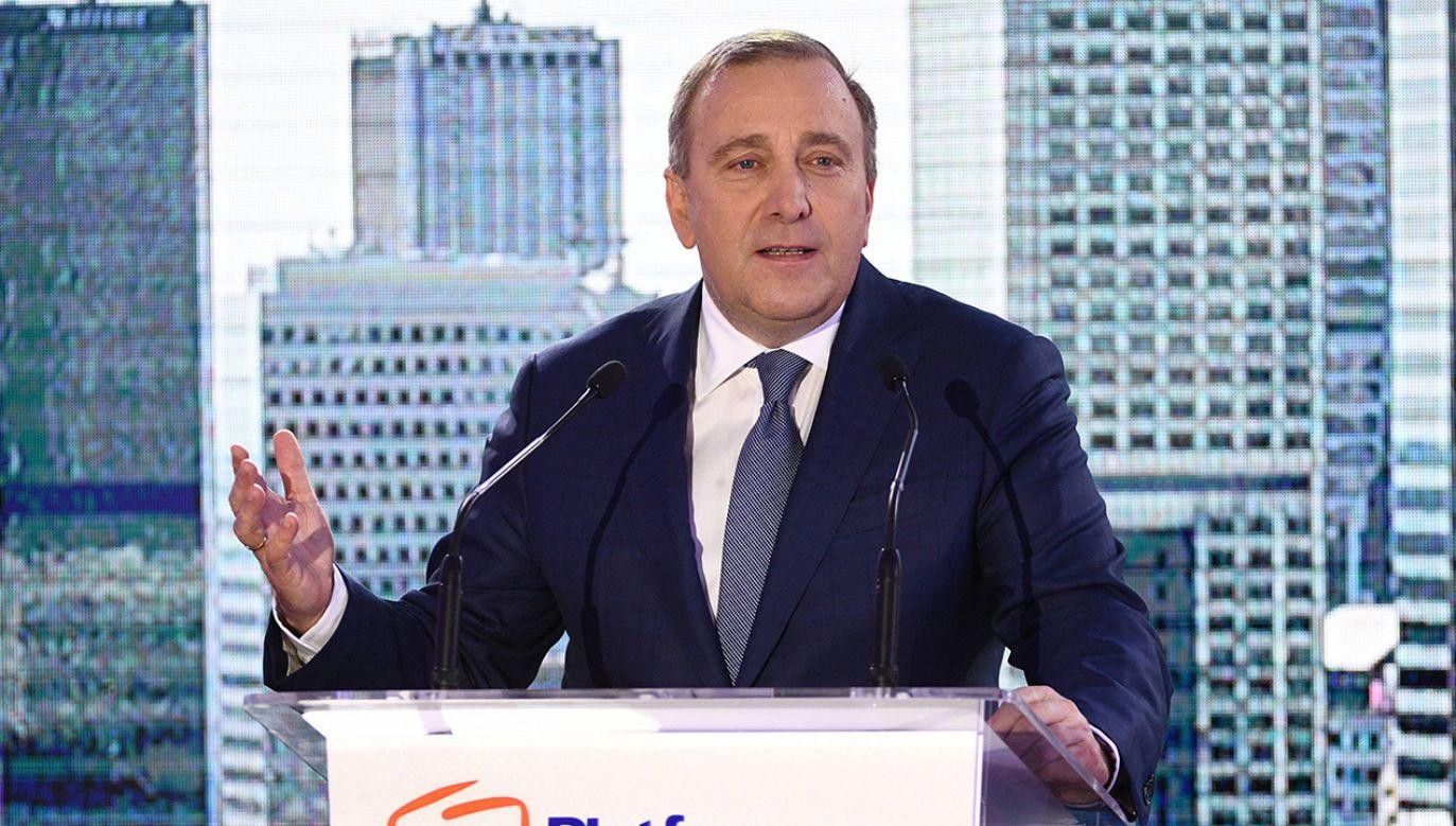 Przewodniczący PO Grzegorz Schetyna (fot. arch. PAP/Jacek Turczyk)