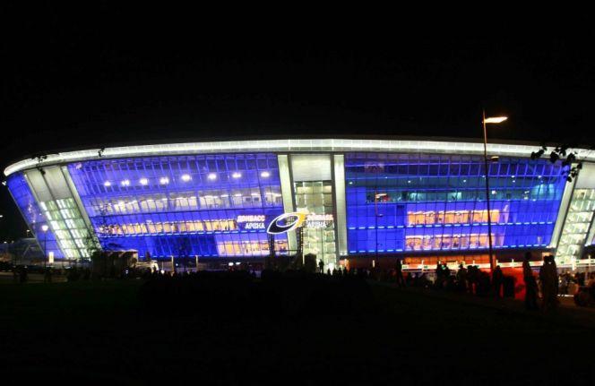 Donbass Arena pod osłoną nocy (fot. PAP/EPA)