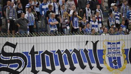 Kibice Dumy Warmii chcą zwrócić uwagę na sytuację finansową klubu (fot. stomil.olsztyn.pl/Emil Marecki)