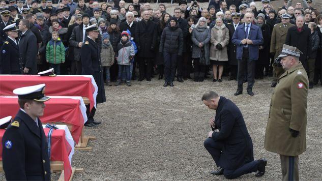 Podczas pogrzebu przemawiał prezydent Andrzej Duda (fot. PAP/Adam Warżawa)