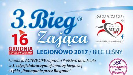 3. BIEG ZAJĄCA - Legionowo 2017 - plakat