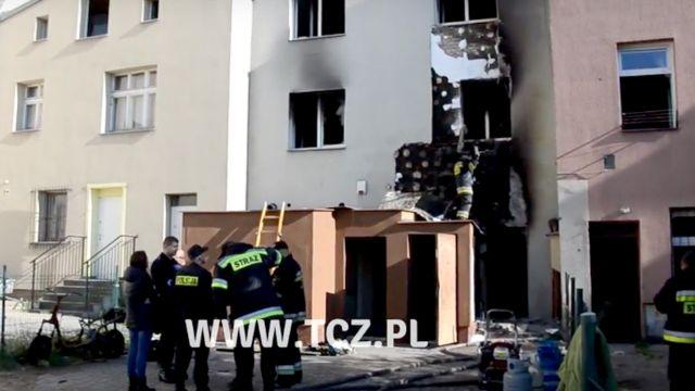 Tragiczny pożar w Tczewie. Zginęły dwie osoby, w tym dwuletnie dziecko