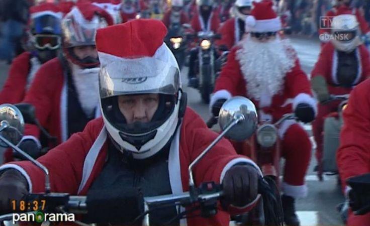 Parada Mikołajów na Motorach w Trójmieście