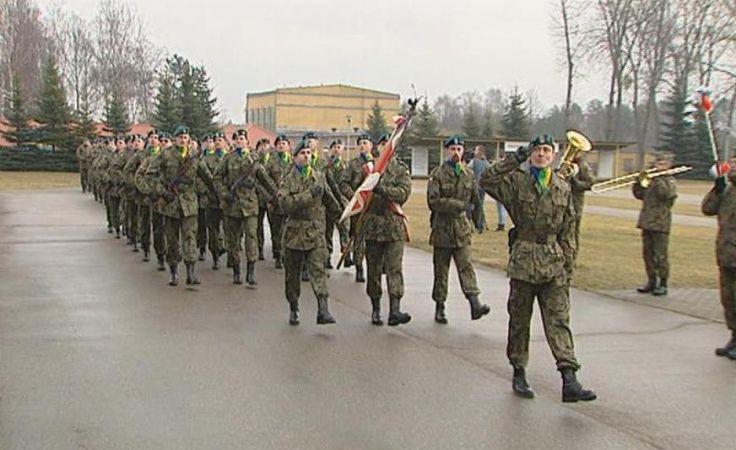 Pożegnanie żołnierzy w Złocieńcu