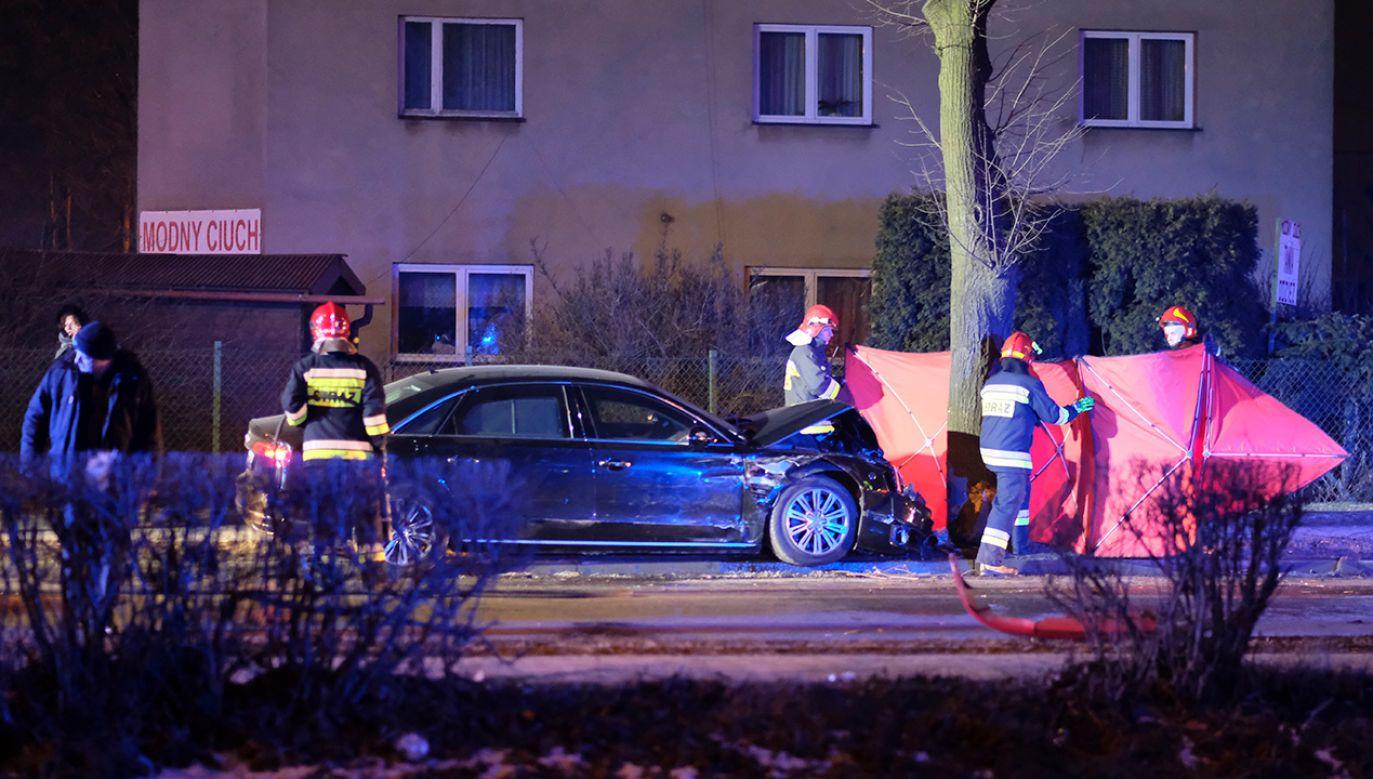 Miejsce wypadku samochodowej kolumny rządowej z udziałem premier Beaty Szydło (fot. arch.PAP/Andrzej Grygiel)