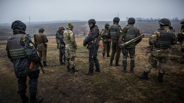 Kijów poinformował, że w ciągu ostatniej doby pozycje jego sił były atakowane 48 razy (fot.Andrew Burton / Staff / Getty Images)