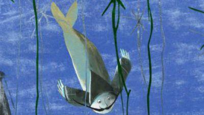 Rybak na dnie morza