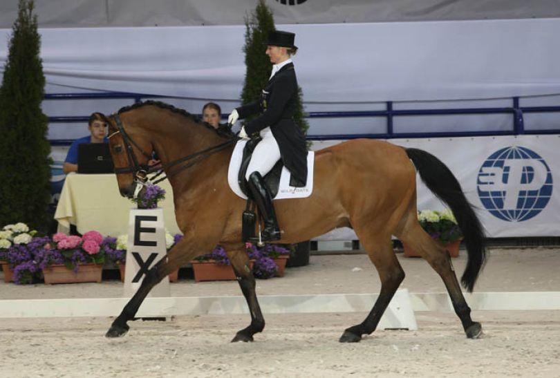 Kristy Oatley na koniu Clive (fot. cavaliada-warszawa.pl)