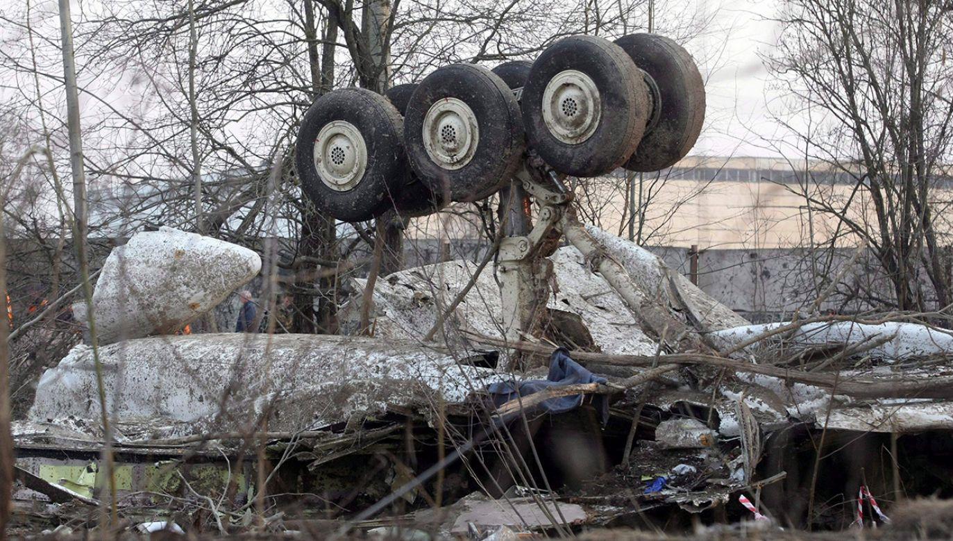 Wrak tupolewa, który rozbił się w Smoleńsku (fot. arch. PAP/Jacek Turczyk)