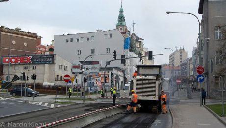 Wpuszczenie ruchu na ul. Pieniężnego powinno nastąpić około północy z piątku na sobotę (fot. olsztyn.eu/Marcin Kierul)