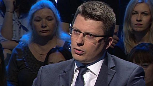 """Marcin Warchoł był gościem """"Bez retuszu"""" (fot. TVP Info)"""
