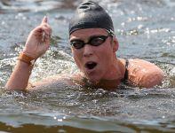 Eva Risztov z Węgier została mistrzynią olimpijską w pływackim maratonie na 10 km (fot. Getty Images)
