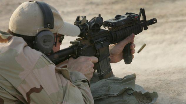 W operacji  wzięli udział żołnierze Navy SEALs (fot. John Moore/Getty Images)