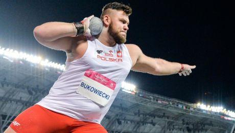 Drugie miejsce na podium Bukowieckiemu zapewnił wynik 20,16 m (fot. azs.pl)