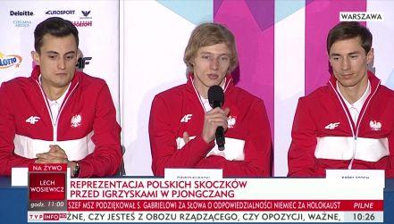 Konferencja prasowa polskich skoczków przed wylotem do Pjongczangu