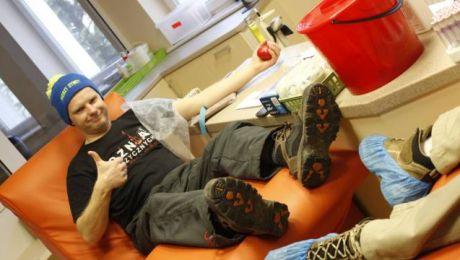 Łącznie Morsy z Dywit w RCKiK zostawiły 20 litrów krwi (fot. Morsy Dywity Facebook)
