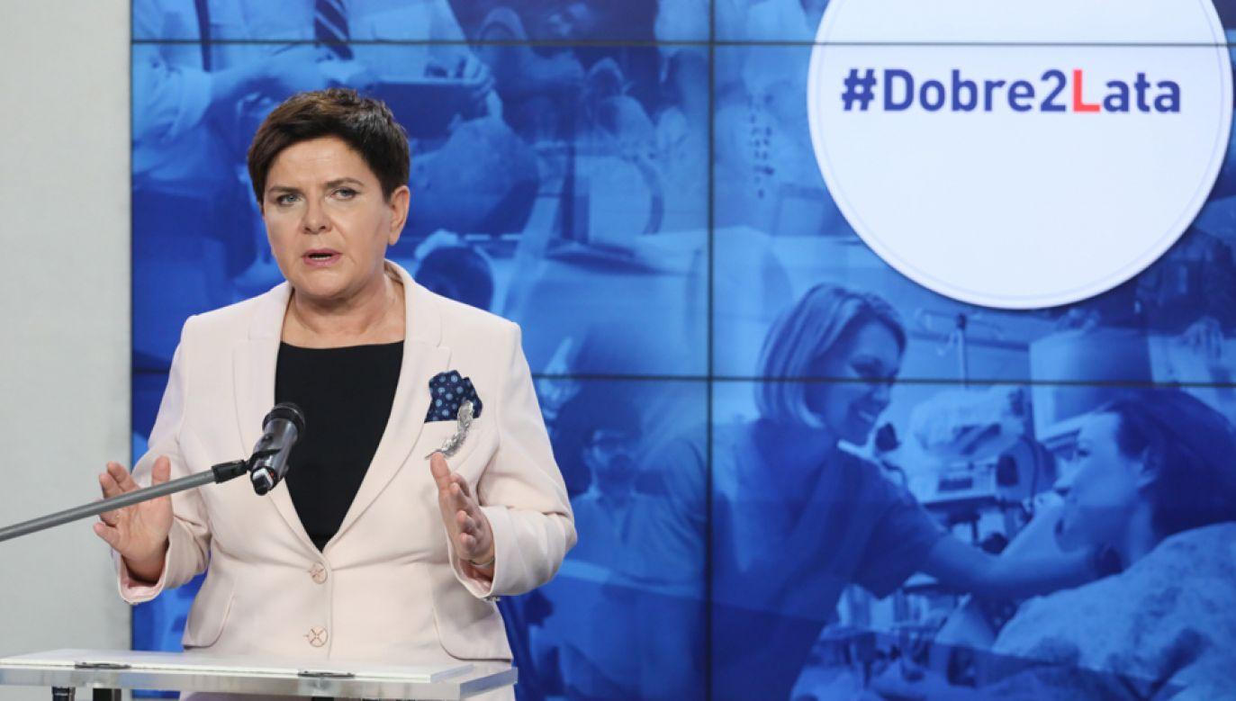 Premier Beata Szydło (fot. PAP/Paweł Supernak)