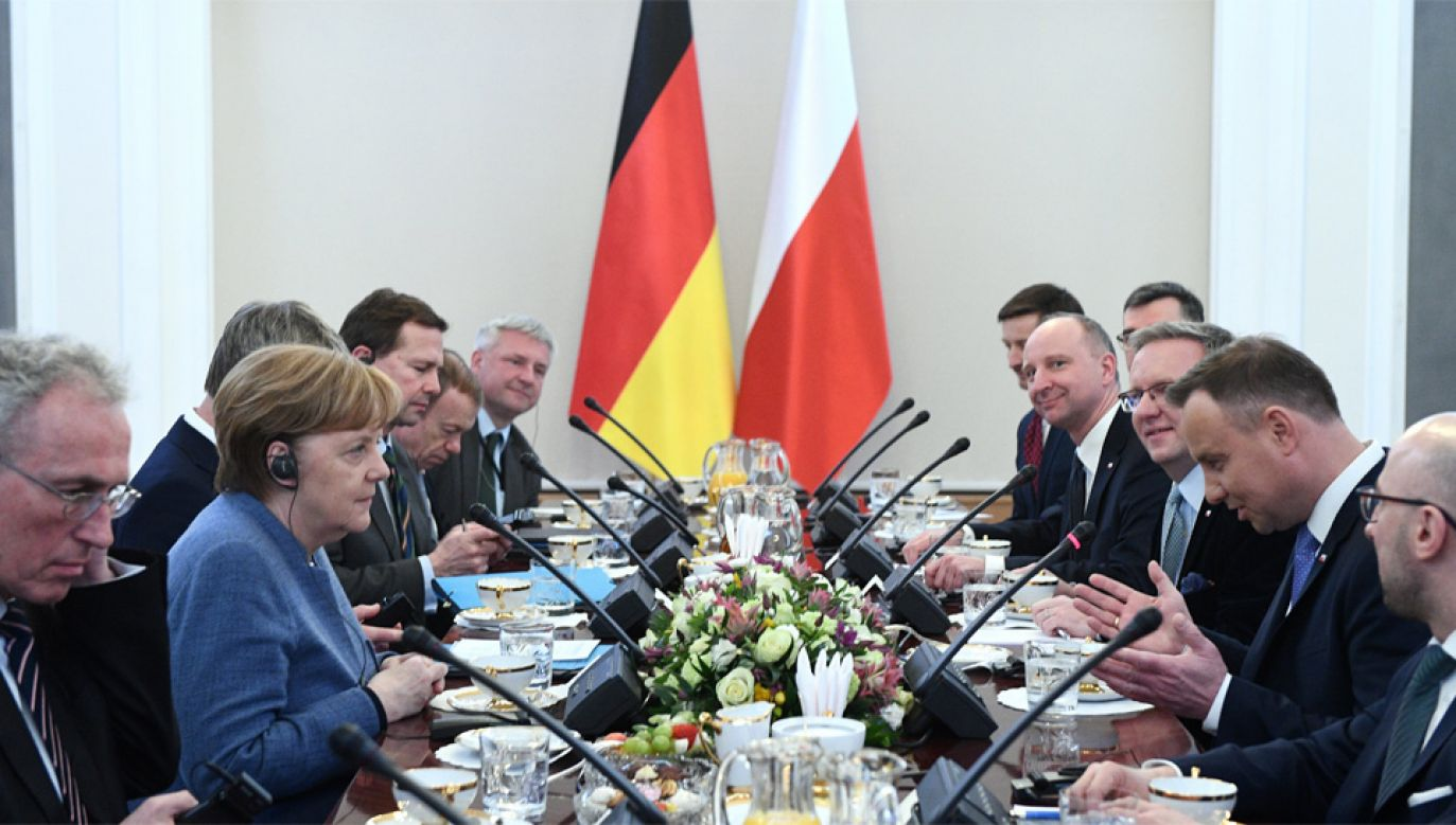 W Warszawie gościła kanclerz Niemiec Angela Merkel (fot. PAP/EPA/Jacek Turczyk)